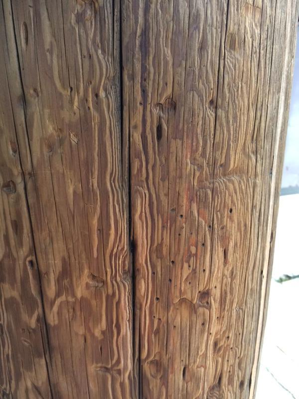 檜  ヒノキ  四分の一 の木を合わせて います