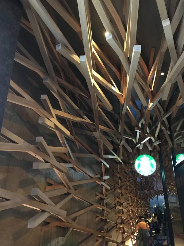 オシャレな木組み構造