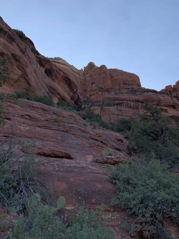 岩の間近に