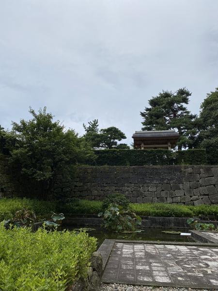 堀と緑のコントラスト