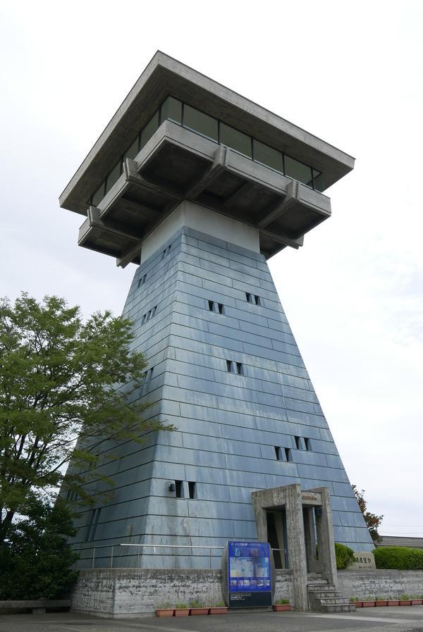 富山港展望台に登ってみる