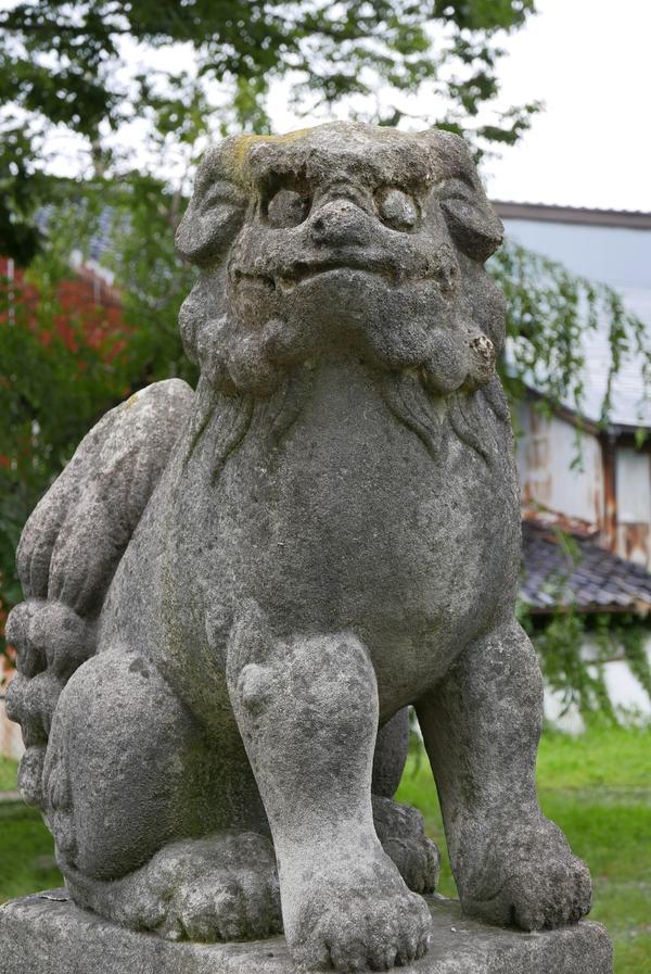可愛い狛犬がいる神社