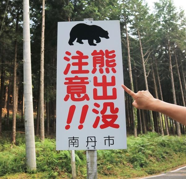 熊には注意!