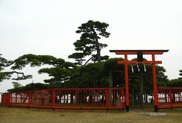 湖畔の景勝地「唐崎神社」