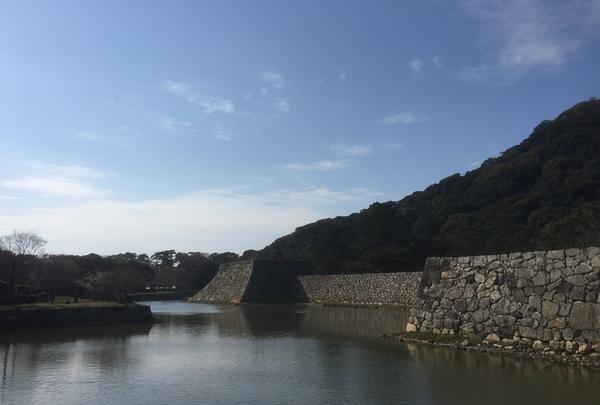 萩城址のお堀