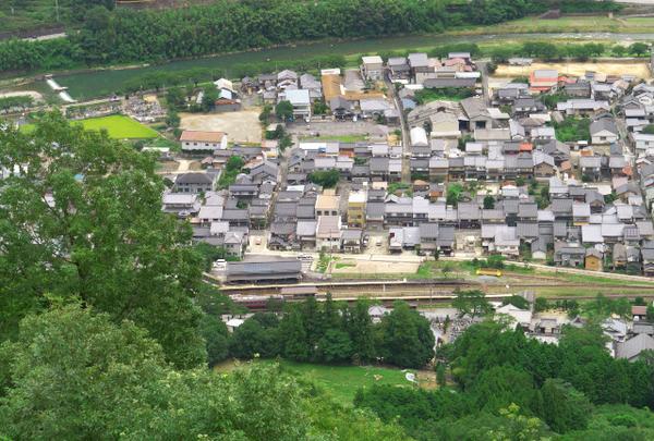 竹田駅も見えます