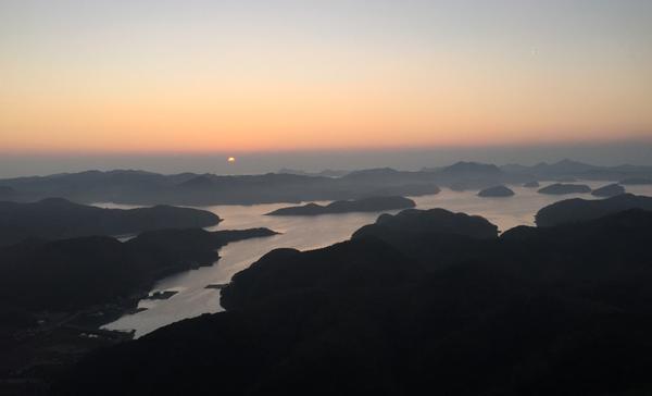 浅茅湾の夕景