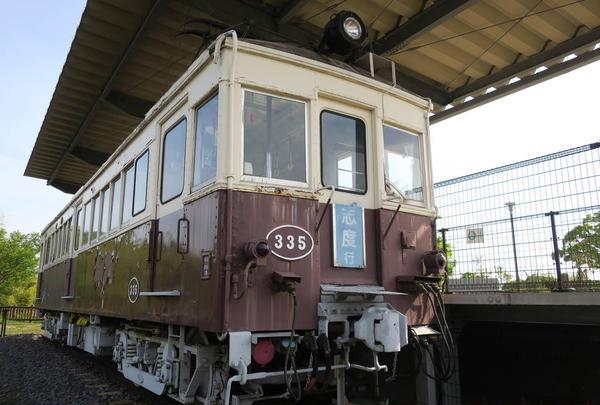 琴電の旧車両展示を発見