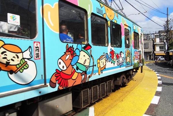 江ノ電って、カラフルな車両が多い
