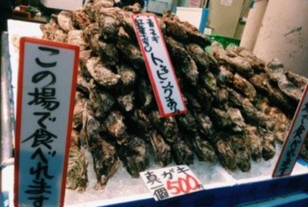 牡蠣の山!!