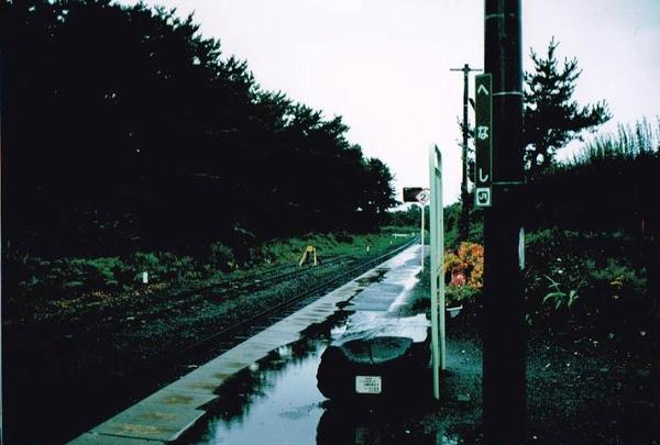 雨の艫作駅