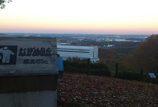 関東平野の地平線を眺める。