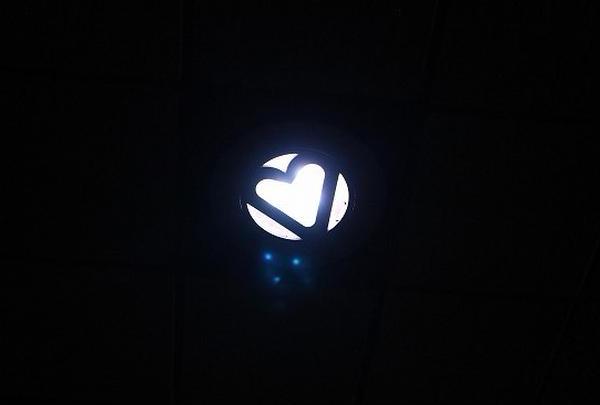ハート形ライト