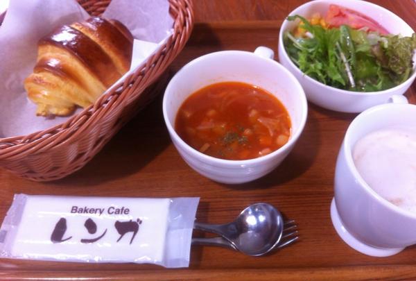 朝食のスープセット
