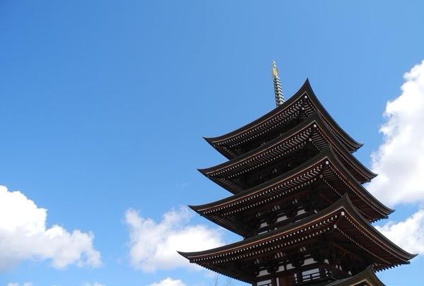 綺麗な五重塔