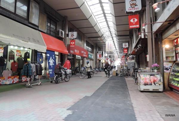 佐竹商店街のアーケード