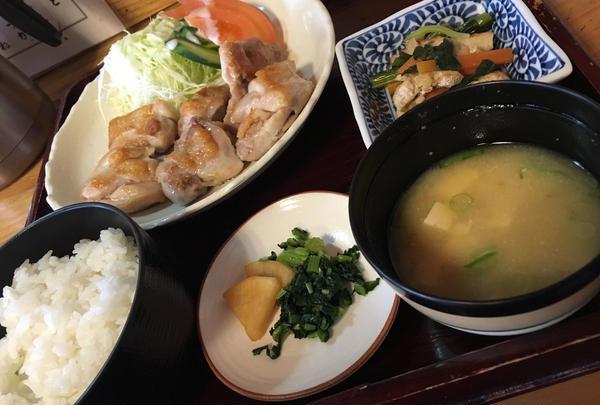地鶏塩焼き定食