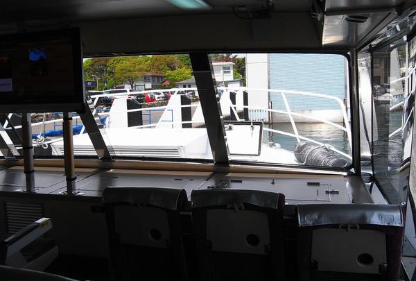 船フロント窓
