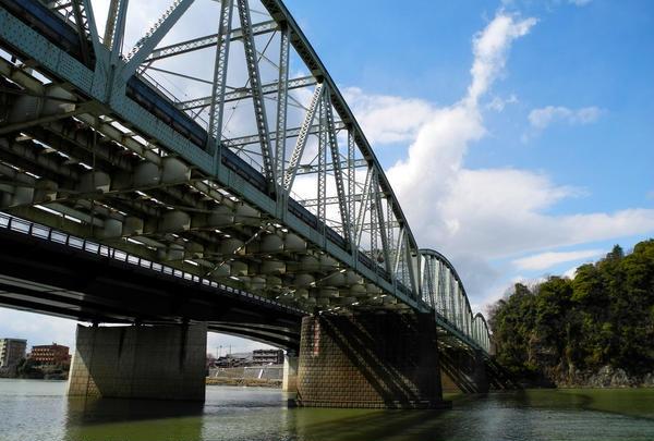 名鉄の名物な鉄橋
