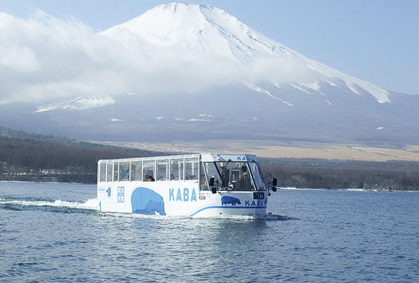 水陸両用バス『山中湖のカバ』
