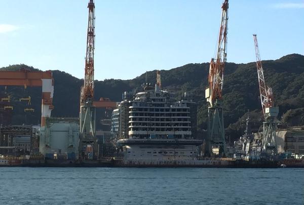 【船から】三菱長崎造船所第二ドック