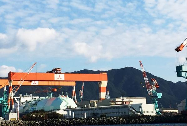 【船から】三菱重工業長崎造船所香焼工場