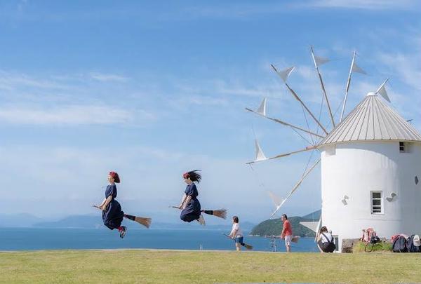 オリーブ公園 ギリシャ風車
