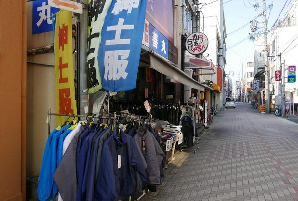 紳士衣料店が多い