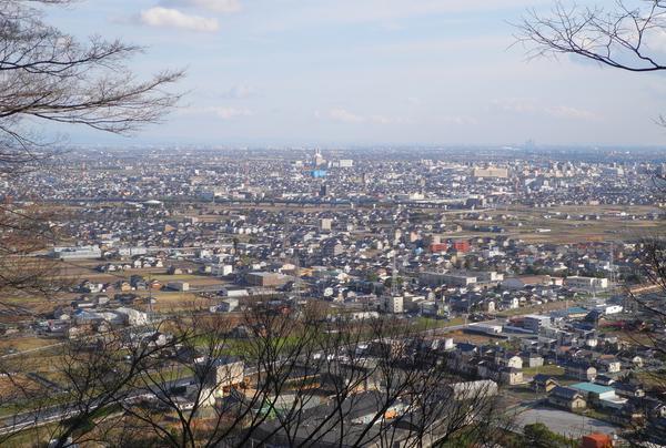 岐阜や名古屋方面の眺め