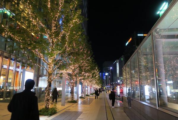KITTE名古屋のツリーイルミ