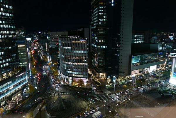 名古屋駅前路面のイルミネーション