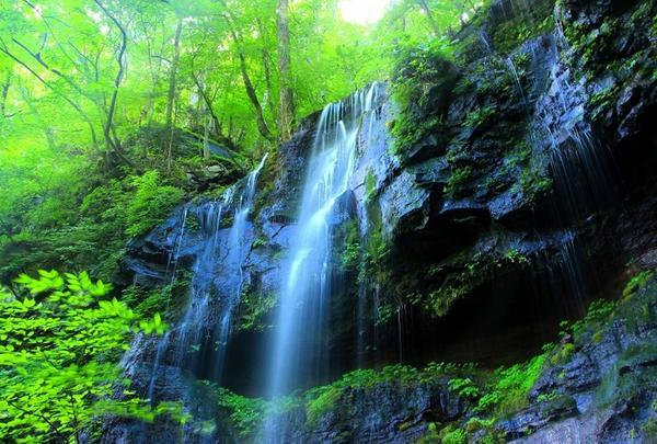 スッカン沢素廉の滝