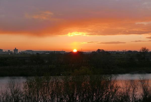 墨俣城で日の出とぜんざいを