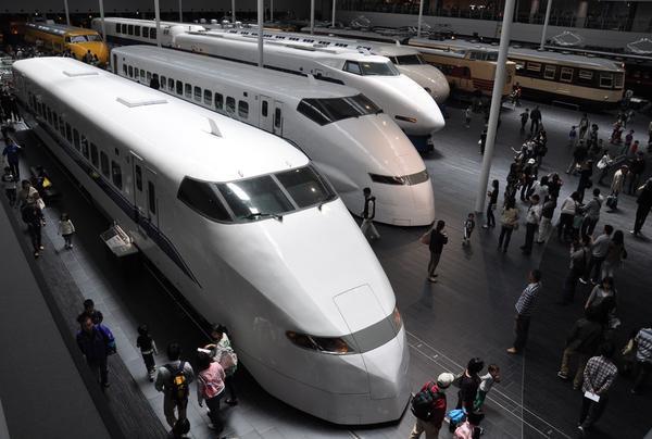 歴代オールド型新幹線の見比べ