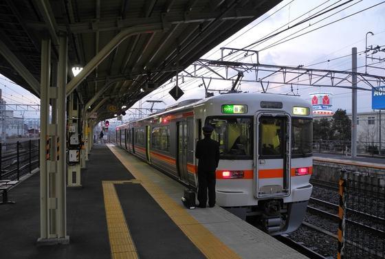ホームは大垣駅の一番西端