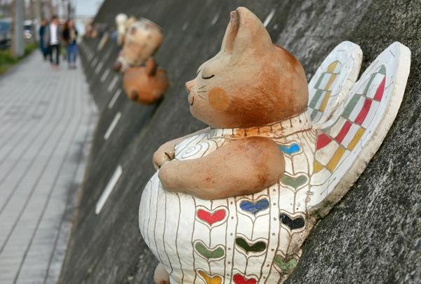 とこなめ招き猫通りの愛らしい猫達