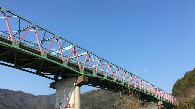 【島根県江津市桜江町】JR三江線と三色橋と沈下橋