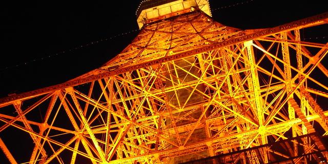 東京タワーの赤い光は恋人たちの愛を深めるらしい。