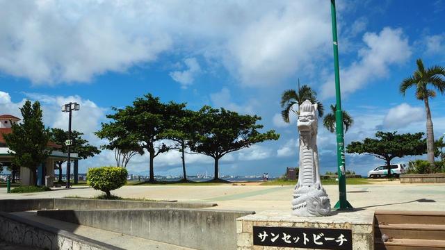沖縄海沿いドライブー!