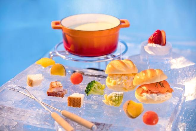 【トマム】氷のBooks_Cafe  氷野菜のチーズフォンデュ