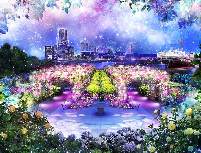イルミネーションイベント『SNOW ROSE GARDEN YOKOHAMA Directed by NAKED』 イメージ