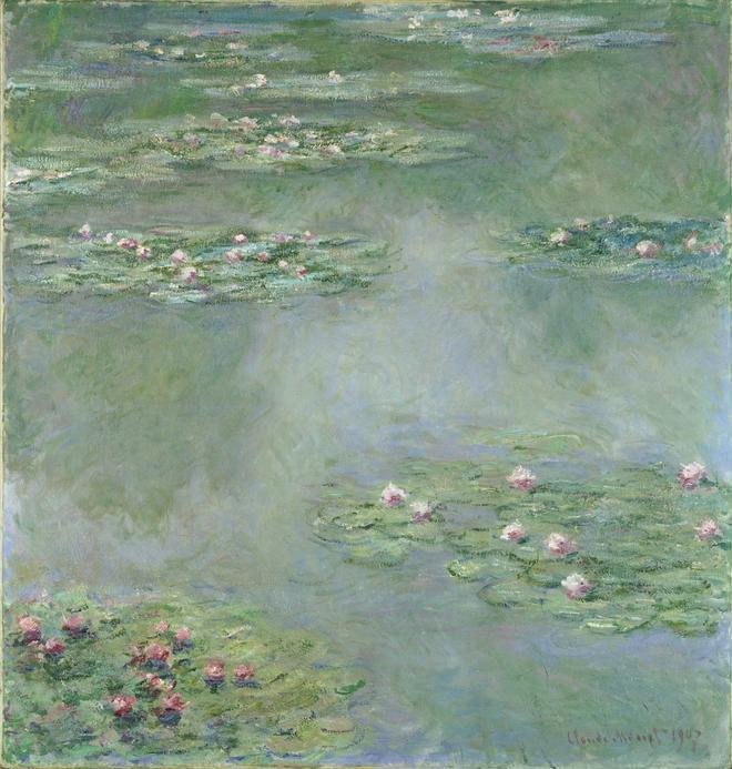 クロード・モネ 《睡蓮》 1907年 ポーラ美術館