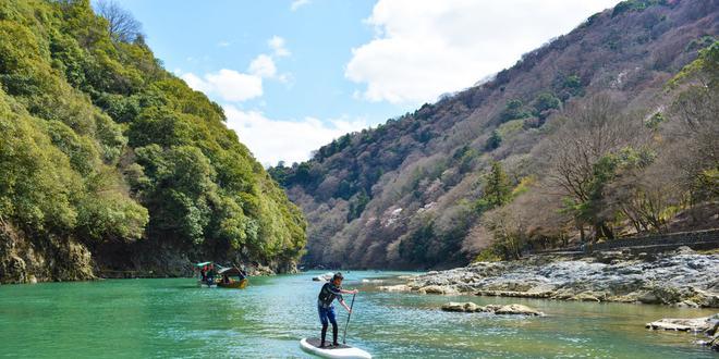 京都嵐山でSUP!