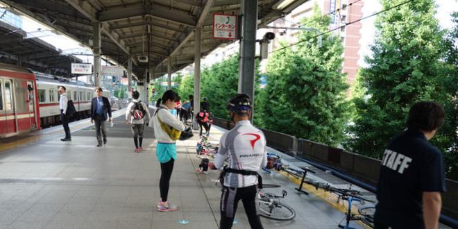 自転車をそのまま乗せて行く!京急サイクルトレイン!