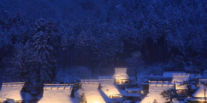 2019 Kyoto Miyama Snow Lantern Festival