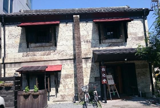 近くにあった建物に大谷石を使ったレストラン