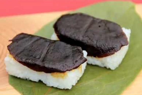 珍しい「しいたけ寿司」