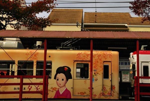 井筒八つ橋「夕子さん」バージョン電車