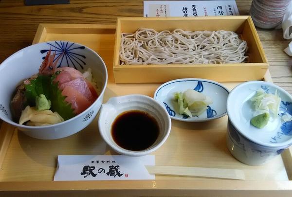 海鮮丼とおそばの膳