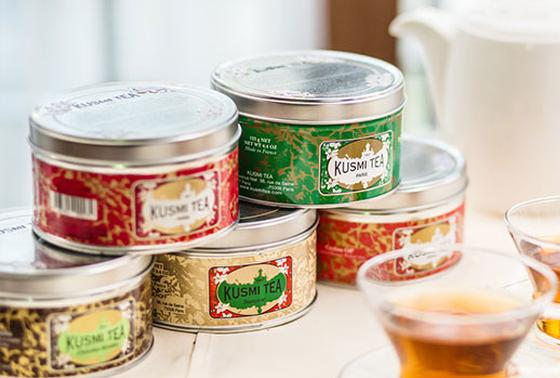 食後はフランスで愛される老舗紅茶ブランド「KUSMI TEA」